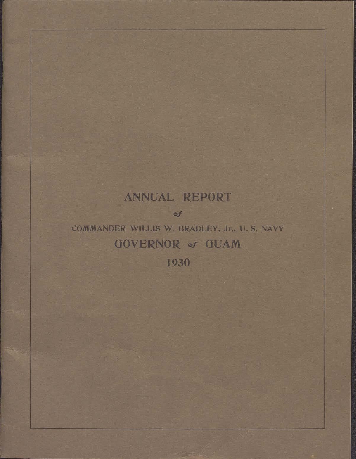 Annual Report - Governor of Guam