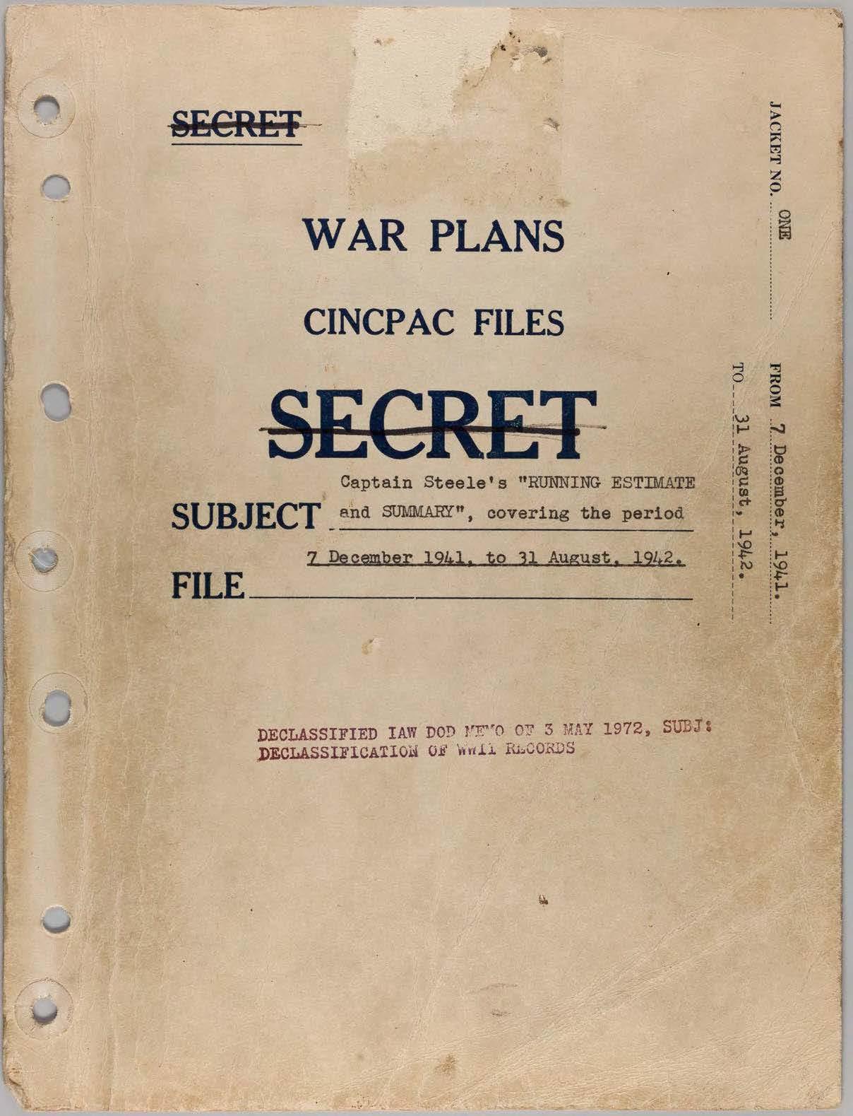 "Nimitz ""Graybook"": Command Summary of Fleet Admiral Chester W. Nimitz"