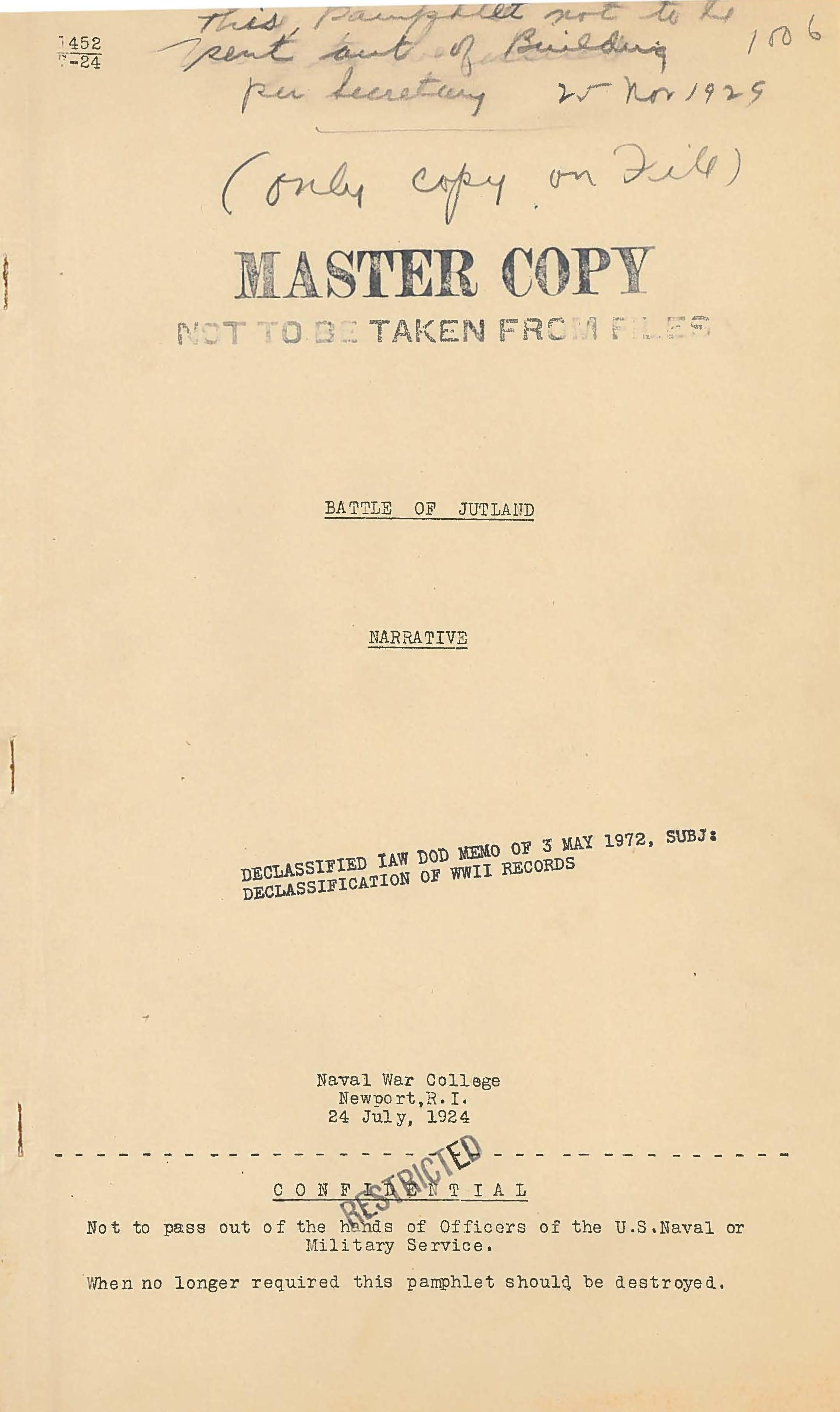 Battle of Jutland - Narrative